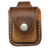 Zippo Lighter Pouch with Loop Brown