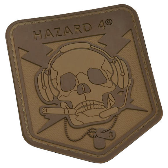 Hazard 4 3D Operator Skull Morale Patch Coyote