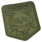 Hazard 4 3D Operator Skull Morale Patch OD Green
