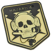 Hazard 4 3D Operator Skull Morale Patch Glow in the Dark
