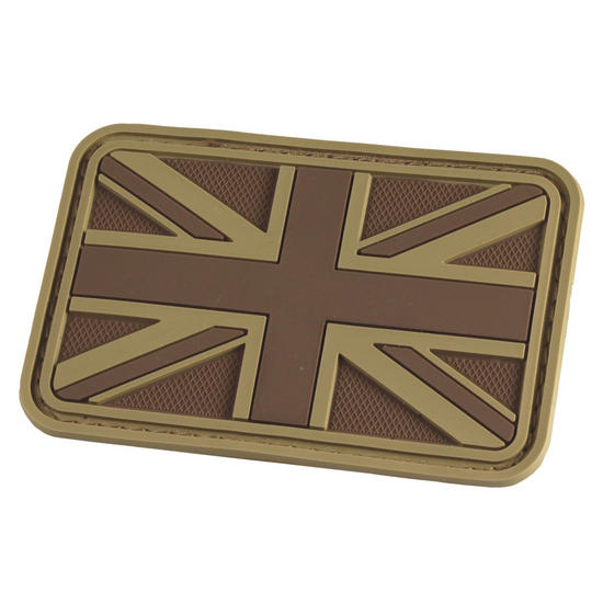 Hazard 4 3D Union Jack UK Flag Morale Patch Coyote