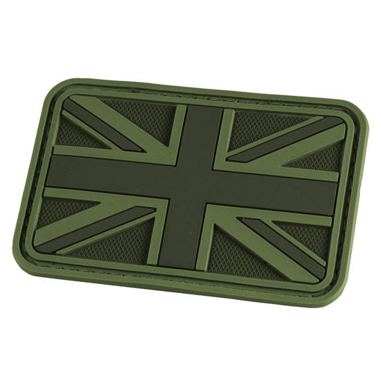 Hazard 4 3D Union Jack UK Flag Morale Patch OD Green