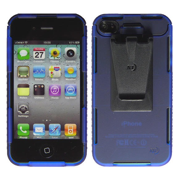 Nite Ize Connect Case for iPhone 4/4S Blue Translucent