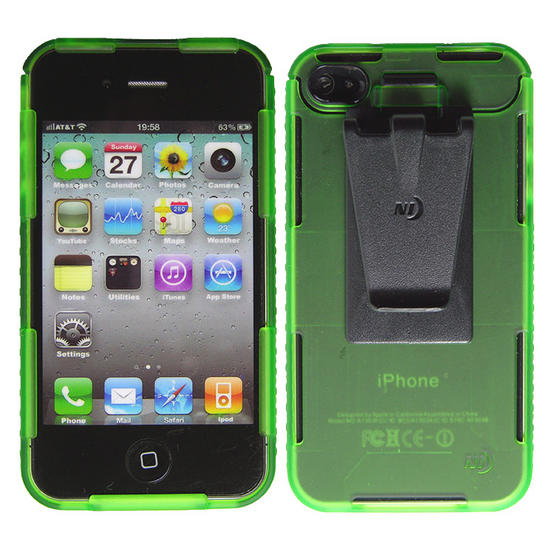 Nite Ize Connect Case for iPhone 4/4S Lime Translucent