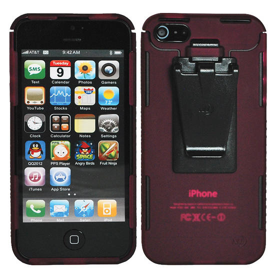 Nite Ize Connect Case for iPhone 5 Cranberry Translucent