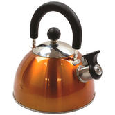 Highlander Deluxe Stainless Steel Whistling Kettle Orange