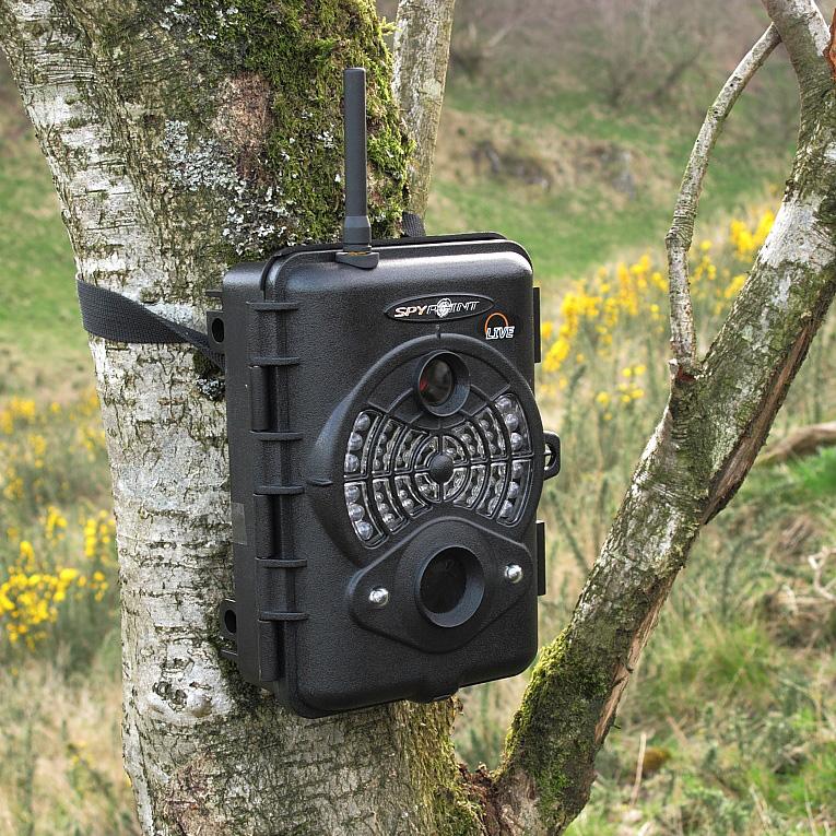 spypoint live gsm cellular infrared digital surveillance camera black. Black Bedroom Furniture Sets. Home Design Ideas