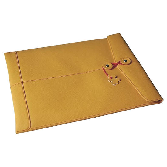 "Civilian Pro Manila-15 Leather Laptop Sleeve for MacBook Pro 15"" Mango"