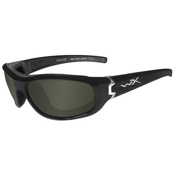 Wiley X Curve Glasses - Polarised Smoke Green Lens / Gloss Black Frame