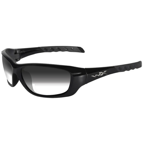 Wiley X WX Gravity Glasses - Light Adjusting Smoke Grey Lens / Gloss Black Frame