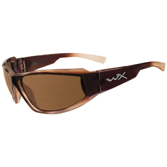 Wiley X Jake Glasses - Polarised Brown Lens / Gloss Brown Fade Frame