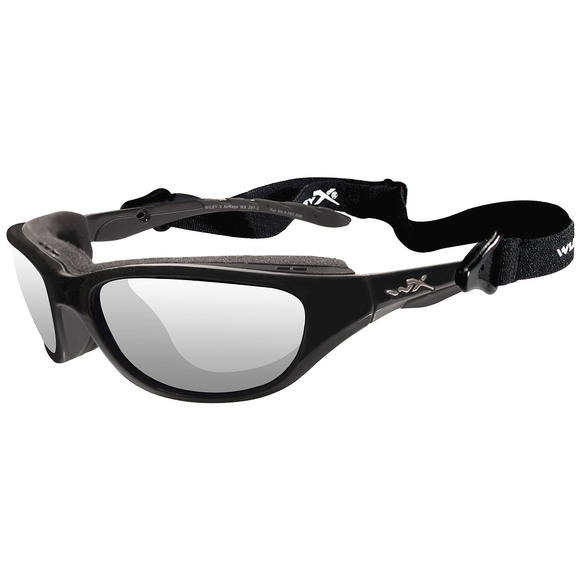 Wiley X Airrage Glasses - Clear Lens / Gloss Black Frame