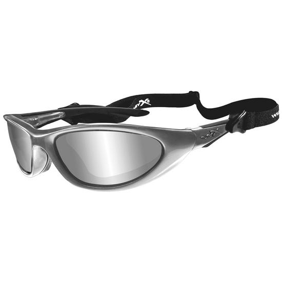 Wiley X Blink Glasses - Silver Flash Lens / Aluminum Gloss Frame