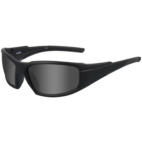 Wiley X WX Rush Black Ops Glasses - Smoke Grey Lens / Matte Black Frame