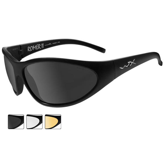 Wiley X Romer II Advanced - Smoke Grey + Clear + Light Rust Lens / Matte Black