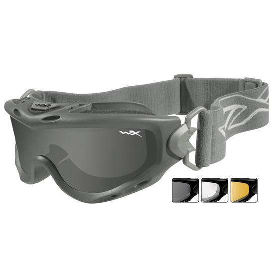 Wiley X Spear Goggles - Smoke Grey + Clear + Light Rust Lens / Foliage Green
