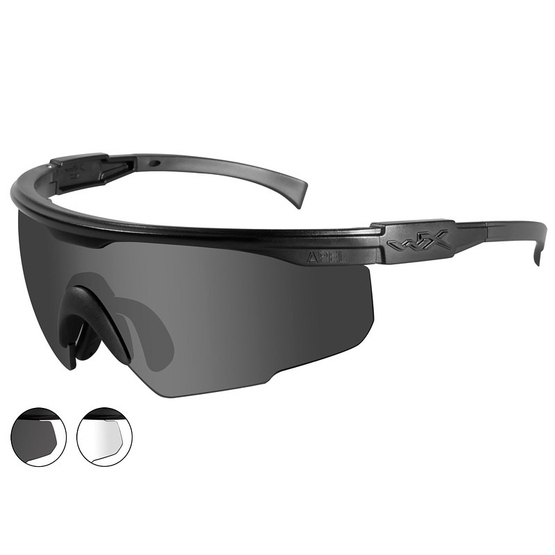 WileyxPT-1 Glasses - Smoke Grey + Clear Lens / Matte ...