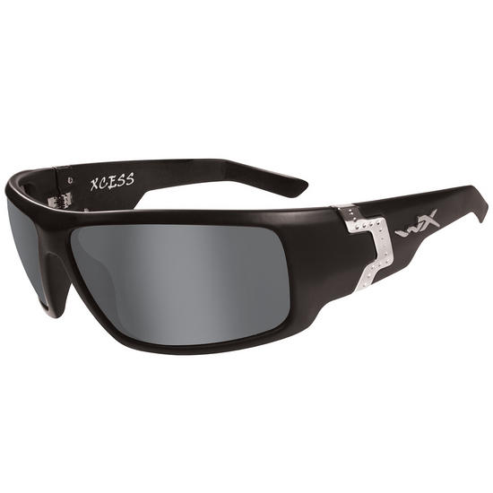 Wiley X Xcess Glasses - Smoke Grey Lens / Gloss Black Frame