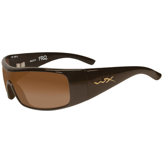 Wiley X WX FRQ Glasses - Fade Brown Lens / Metallic Brown Frame