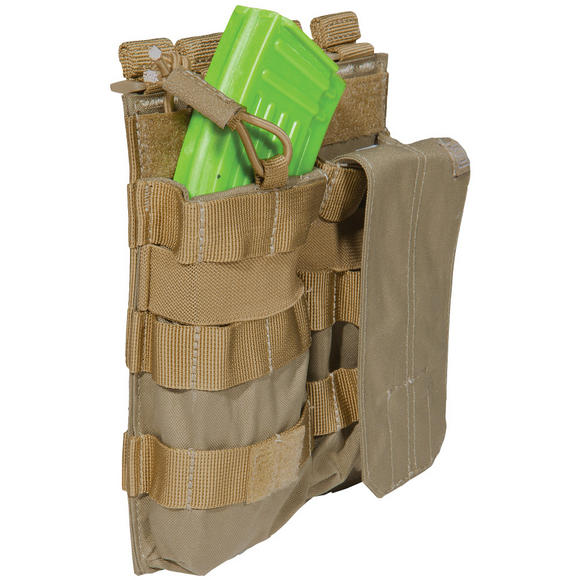 5.11 Double AK Bungee Cover Mag Pouch Sandstone