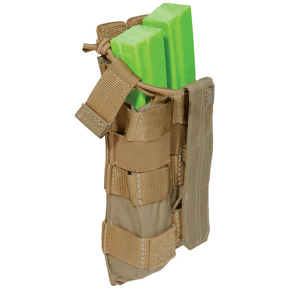 5.11 Double MP5 Bungee Cover Mag Pouch Sandstone