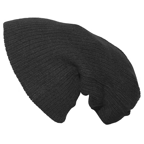 Knitting Pattern Long Hat : Pro Company Extra Long Knitted Beanie Hat Black Cold ...