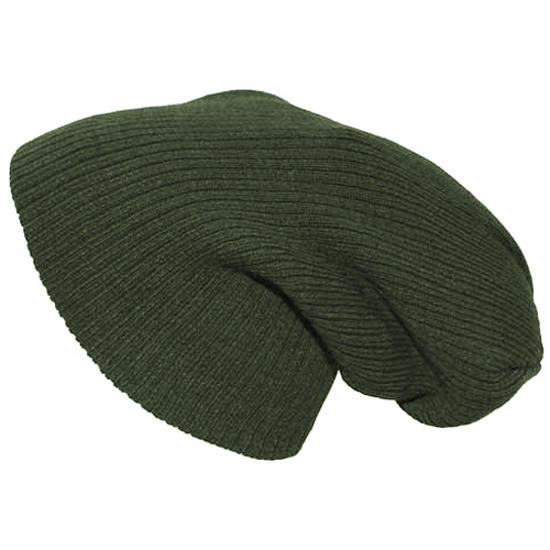Pro Company Extra Long Knitted Beanie Hat OD Green