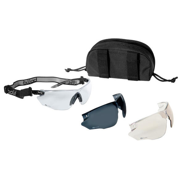 Bolle Combat Ballistic Spectacles - Clear + Smoke + ESP Lens / Black Frame