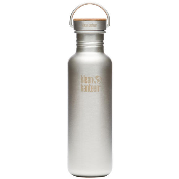 Klean Kanteen Reflect 800ml Bottle Unibody Bamboo Cap Brushed Stainless