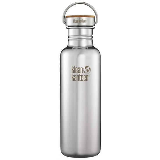 Klean Kanteen Reflect 800ml Bottle Unibody Bamboo Cap Mirrored Stainless