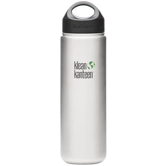 Klean Kanteen Wide Mouth 800ml Bottle with Loop Cap Brushed Stainless
