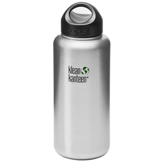 Klean Kanteen Wide Mouth 1182ml Bottle with Loop Cap Brushed Stainless