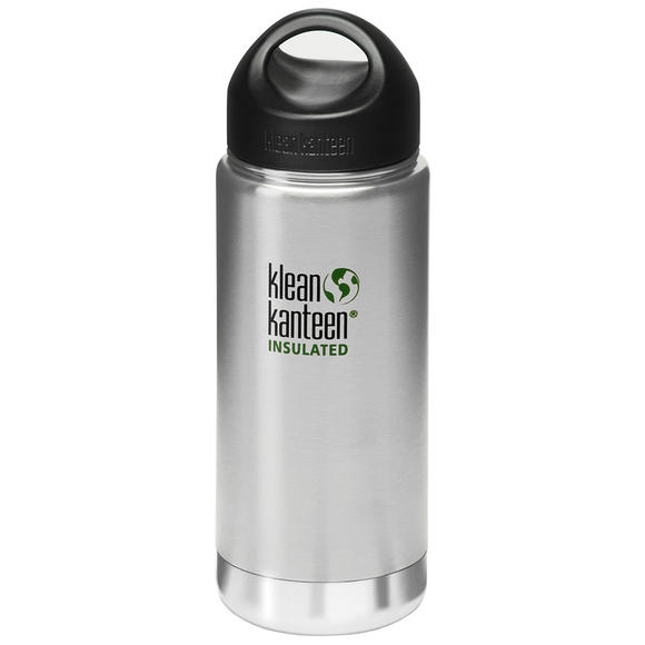 Klean Kanteen Wide Mouth Insulated 473ml Bottle Loop Cap Brushed Stainless