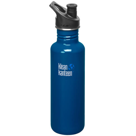 Klean Kanteen Classic 800ml Bottle with Sport Cap 3.0 Blue Planet