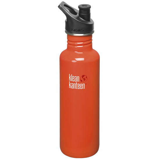 Klean Kanteen Classic 800ml Bottle with Sport Cap 3.0 Flame Orange