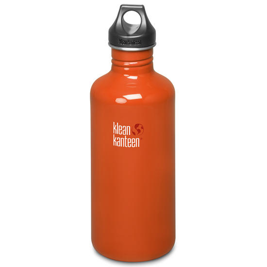 Klean Kanteen Classic 1182ml Bottle with Loop Cap Flame Orange