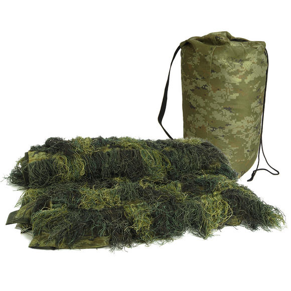 Mil-Tec Ghillie Cover 'Anti Fire' 140x100cm Digital Woodland