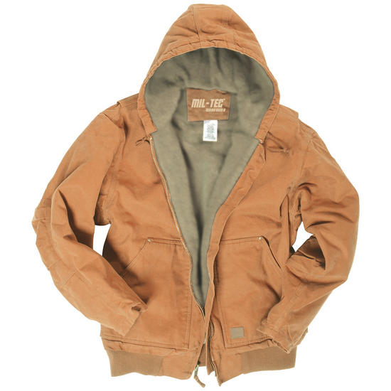 Mil-Tec Work Hooded Jacket Canvas Coyote
