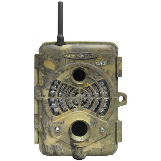 SpyPoint Live GSM Cellular Infrared Digital Trail Camera Camo