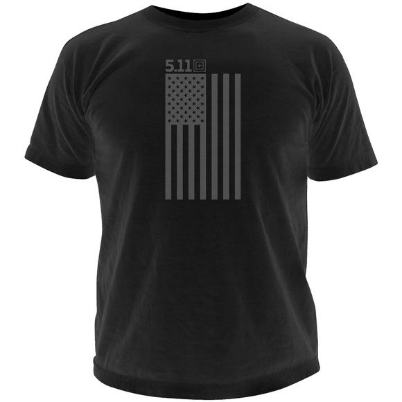 5.11 Tonal Stars & Stripes T-Shirt Black