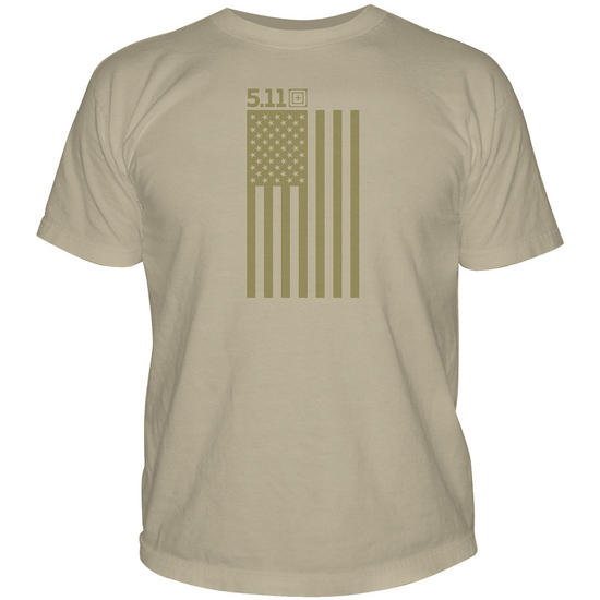 5.11 Tonal Stars & Stripes T-Shirt Tan