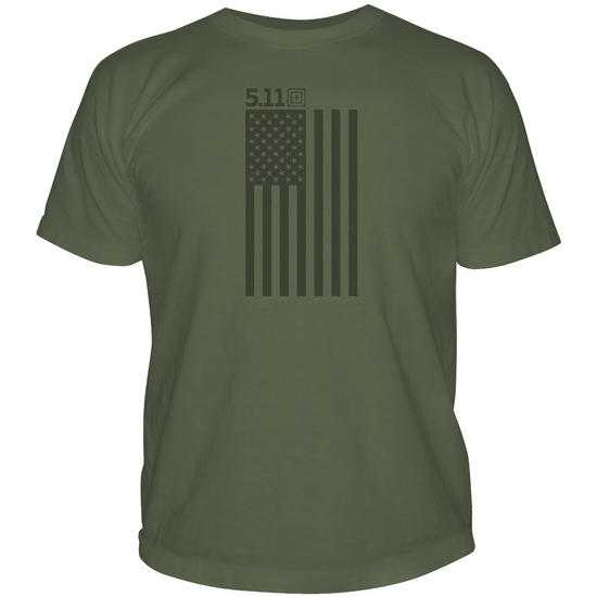 5.11 Tonal Stars & Stripes T-Shirt OD Green