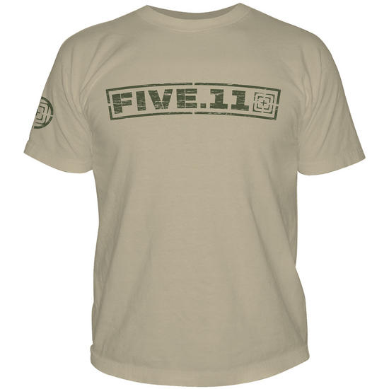 5.11 Pulling Rank Logo T-Shirt Tan