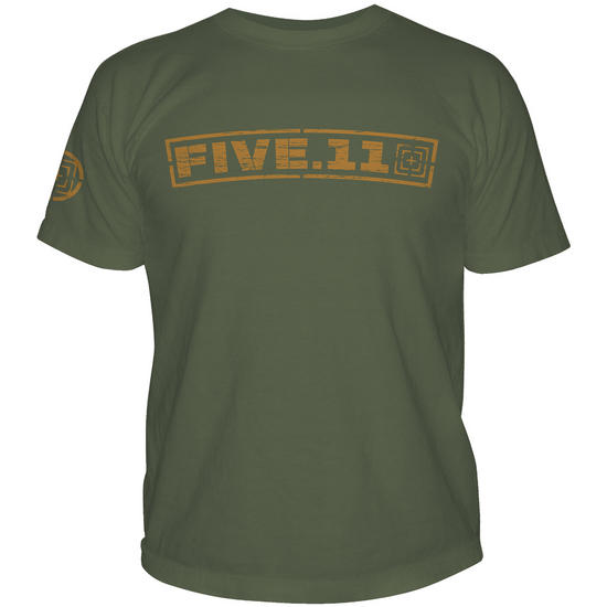 5.11 Pulling Rank Logo T-Shirt OD Green