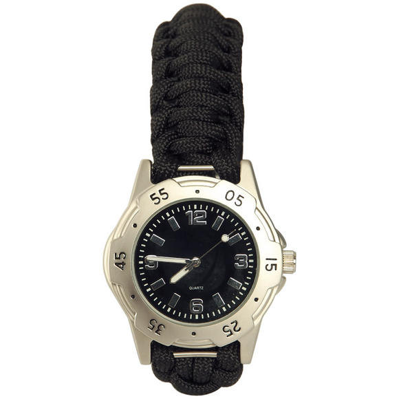 Mil-Tec Paracord Watch Silver
