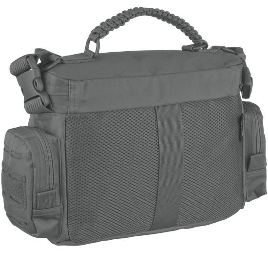 Mil tec tactical paracord bag small urban grey shoulder for How to make a paracord utility pouch