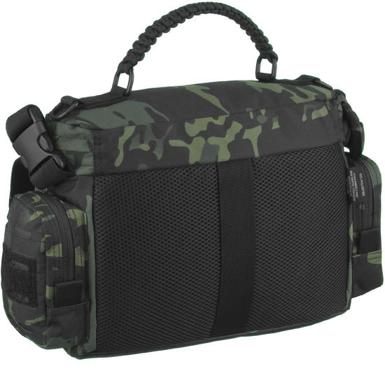 Mil tec tactical paracord bag large multitarn black for How to make a paracord utility pouch
