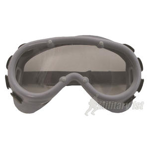 Vintage Safety Goggles Clear Lens Grey