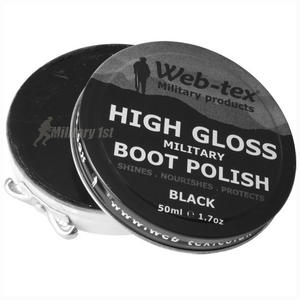 Web-Tex High Gloss Military Boot Polish Black