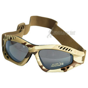 Mil-Tec Commando Goggles Air Pro Smoke Lens Desert Frame